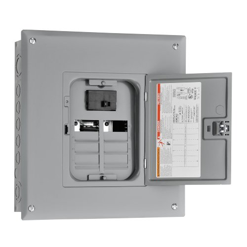 Square D By Schneider Electric Hom816M100C Homeline 100-Amp 8-Space 16-Circuit Indoor Main Breaker Load Center With Cover