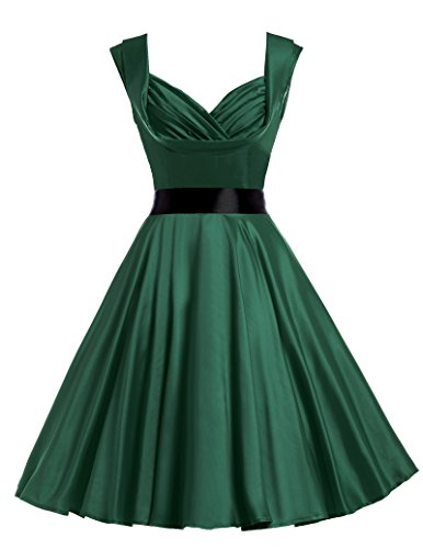 Sexy V-Neck Vintage Rockabilly Dresses 1950