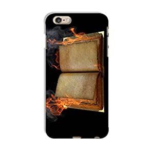 ArtzFolio Open Book In The Flame : Apple iPhone 6 Plus Matte Polycarbonate Original Branded Mobile Cell Phone Designer Hard Shockproof Protective Back Case Cover Protector