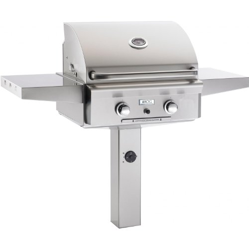 American Outdoor Grill 24 Inch Natural Gas Grill On In-Ground Post