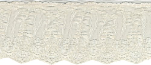 Wrights Ruffled Fancy Lace 3-1/2