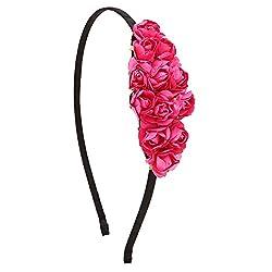 Petal Pink Paper Flower Hair Band For Girls/Kids
