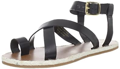 Madison Harding Women's Judd Ankle-Strap Sandal,Black,9 M US