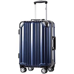 [クールライフ] COOLIFE スーツケース キャリーバッグ100% PCポリカーボネート ダブルキャスター