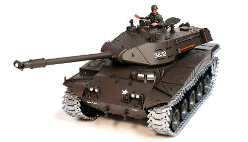 1/16 U.S M41A3 Walker Bulldog Sound and Smoke Metal Pro Air Soft Rc Battle Tank (Upgrade Version w/ Metal Gear & Tracks)