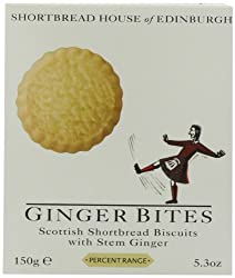 Shortbread House of Edinburgh Shortbread Biscuits with Ginger Bites, 150g