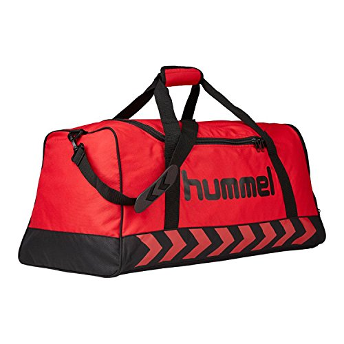 Hummel - Borsa sportiva da uomo Authentic, Uomo, Tasche Authentic Sports Bag, Rosso / Nero