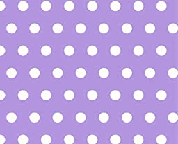 SheetWorld Fitted Pack N Play Sheet - Polka Dots Lavender - Made In USA