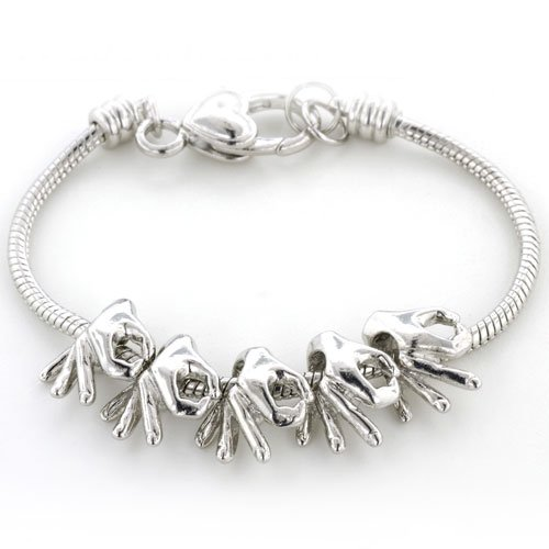 Pugster Ok Symbolic Gesture Beads Fits Pandora Charms (not Include Bracelet)