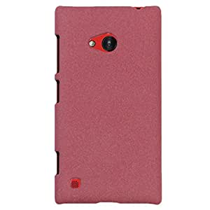 Heartly QuickSand Matte Finish Hybrid Flip Thin Hard Bumper Back Case Cover For Nokia Lumia 720 - Vintage Burgundy