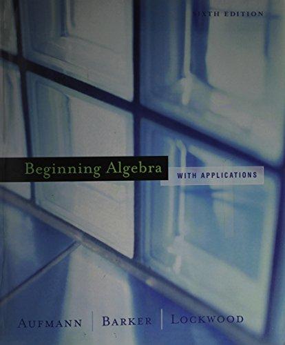 Beginning Algebra, Custom Publication