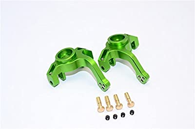 Axial Yeti Upgrade Parts Aluminium Front Knuckle Arm - 1Pr Set Green
