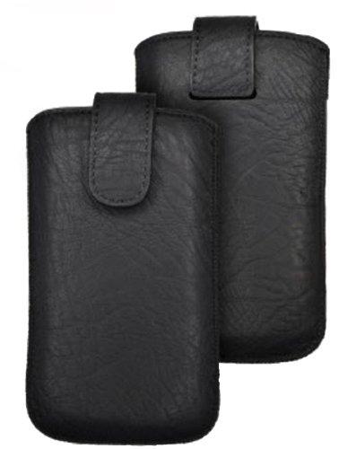Pull up Handytasche für Sony xperia J ST26i schwarz Magnetverschluss Handy Deko Schutz Tasche Hülle