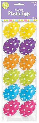 "Amscam Polka Dot Plastic Eggs, 2 1/4"", Multicolor"