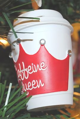 Hallmark 2011 Caffeine Queen Coffee Cup Christmas Ornament (Hallmark Coffee Cups compare prices)