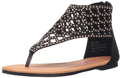 Josmo 32073 Girls sandals (Little Kid/Big Kid),Black Suede,12