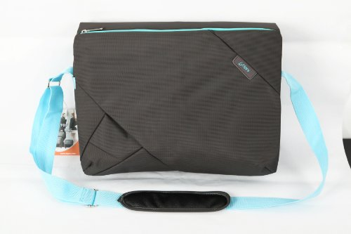 Bipra 15.6 Inch Laptop Messenger Bag Grey/blue Design Suitable for 15.6 Inch Fits Most Devices Netbooks, Laptop Computers, Tablets, Ipad image