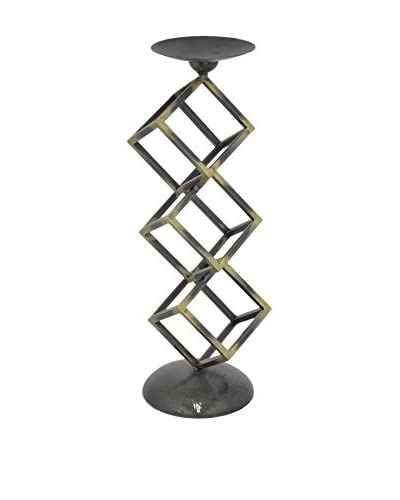Three Hands Tall Metal Cube Candle Holder