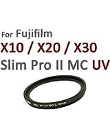 Nuovo: Slim Pro II MC speciale filtro UV 40mm per Fuji X10 / X20 + copriobiettivo