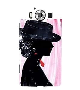 Party Girl 3D Hard Polycarbonate Designer Back Case Cover for Nokia Lumia 950 :: Microsoft Lumia 950