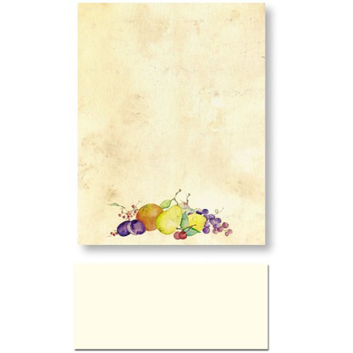 200 Crackled Fruit Letterhead Sheets and 200