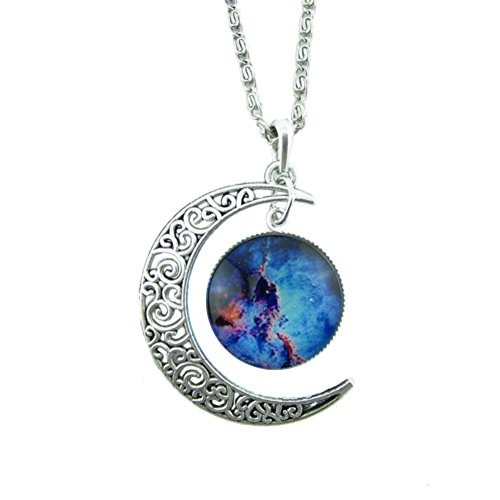 collana donna, DDLBiz Donna Galaxy collana scava fuori Crescent stella Galattica Cosmica Luna collane di fascino