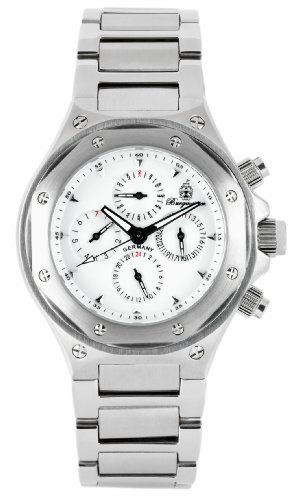 Burgmeister Monaco Bm139-181 Gents Automatic Analogue Wristwatch Stainless Steel Bracelet Date Day Month 24H