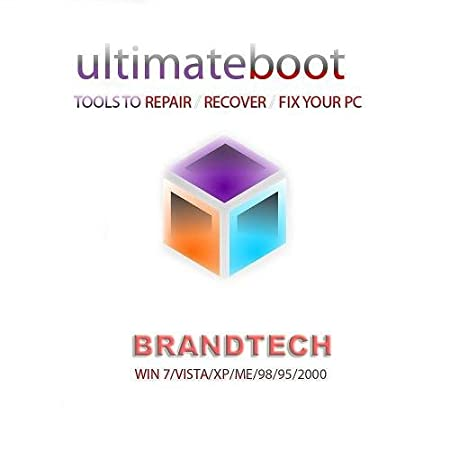 Ultimate Boot CD / Disc Ultimate Repair Recovery Fix DOS Windows 7 XP Vista 98 95 New 2011 Disk