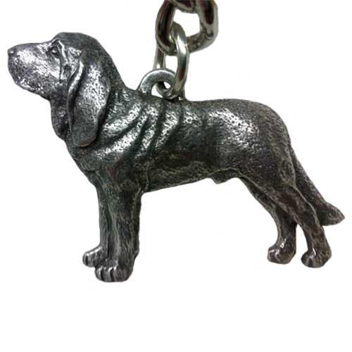 Bloodhound George Harris Pewter Keychain