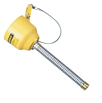 Justrite 14411 Bolt-on Galvanized Steel Funnel Attachment