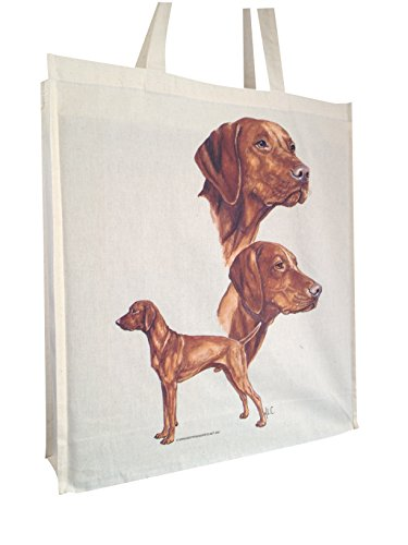 vizsla-group-breed-of-dog-cotton-shopping-bag-with-gusset-and-long-handles-perfect-gift