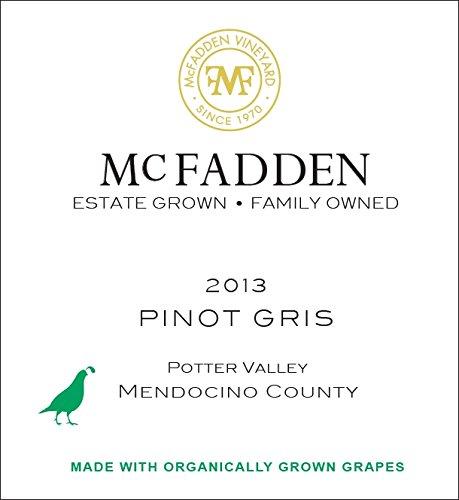 2013 Mcfadden Pinot Gris Mendocino County 750 Ml