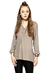 Raindrops Women's Top(1187D004G-Brown-XL)