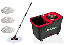 ISPIN MOP RED & BLACK, WITH WHEELS