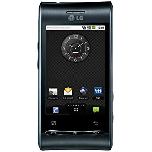 LG Optimus GT540 Unlocked GSM Quad-Band Phone with 3 MP Camera, Android OS, Touchscreen, Wi-Fi, and Bluetooth–No Warranty (Black)