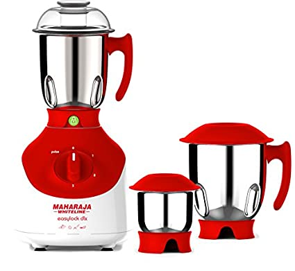 Maharaja-Whiteline-Easy-Lock-Dlx-MX-138-750W-Mixer-Grinder-(3-Jars)
