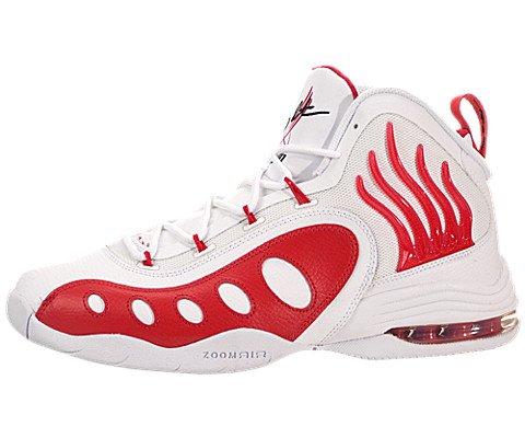 Nike Men's Sonic Flight White/University Rd/Black Basketball Shoe 10.5 Men US (Gary Payton compare prices)