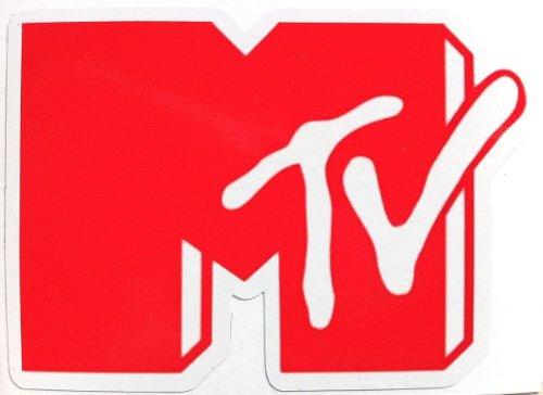ステッカーMTV ロゴ赤  防水紙シール