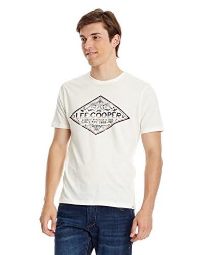 Lee Cooper T-Shirt Manica Corta Wellow [Écru]