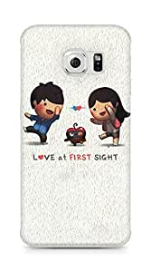 Amez designer printed 3d premium high quality back case cover for Samsung Galaxy S6 Edge (Love At First Sight)