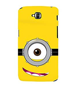 printtech Funny Yellow Face Glasses Back Case Cover for LG GPro Lite / LG G Pro Lite Dual D686