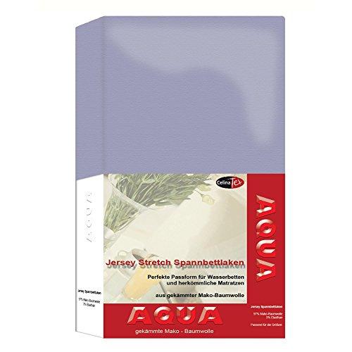 AQUA-Jersey-Stretch-Spannbettlaken-24-Farben-und-2-Gren-elastisch-passt-auf-Matratzen-Wasserbetten-Boxspringbetten-180-x-200-200-x-220-cm-silber-grau-CelinaTex-0001480