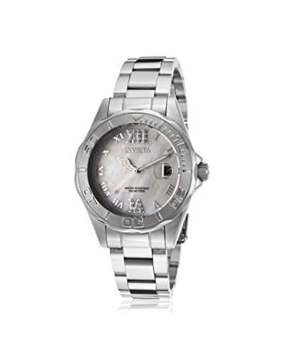 Invicta Women's 14350 Pro Diver Silver/White Mother-of-Pearl Stainless Steel Watch