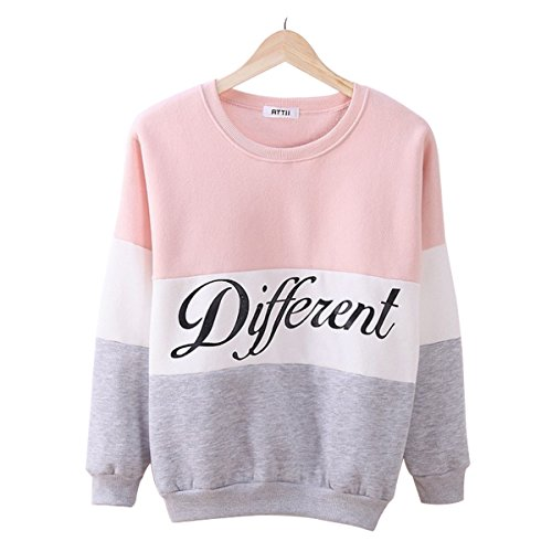 laisiyi-autumn-fleece-letter-different-print-casual-sweater-mix-color-pullover-pinkgray-m