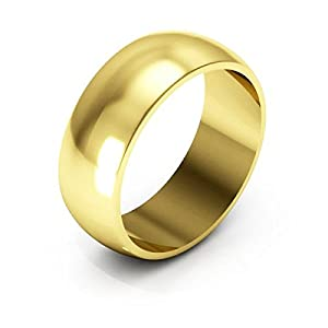 Amazon 10K Yellow Gold Wedding Bands For Mens And Womens 7mm Plain Half Round Jewelry