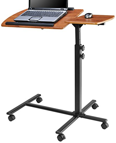 Altra 9234096 Laptop Cart, Cherry on Black