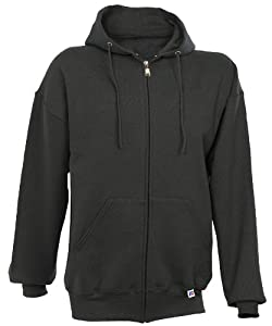 Russell Athletic Men's Dri Power Hooded Zip-up Sweatshirt, Black, Large
