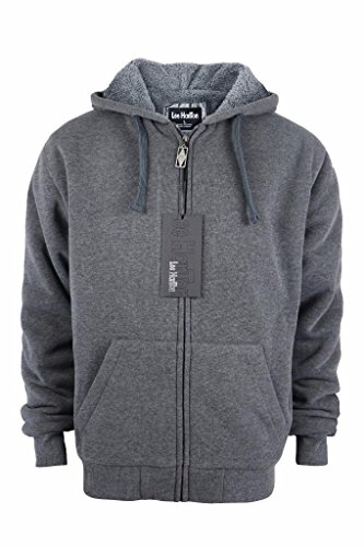 Lee-Hanton-Mens-Full-Zip-Heavyweight-Sherpa-Lined-Fleece-Hoodie-Jackets