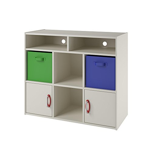 Altra Lucerne Cube Bookcase and Media Center for Kids, 12-Inch, White Stipple