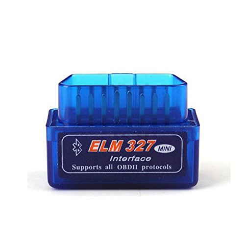 ELM327 Latest Version V2.1 Bluetooth Super Mini ELM327 OBD2 II Scan Tool Car Auto Diagnostic Tool for Windows (blue)
